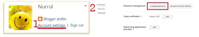 Tutorial : Tukar Password Blog