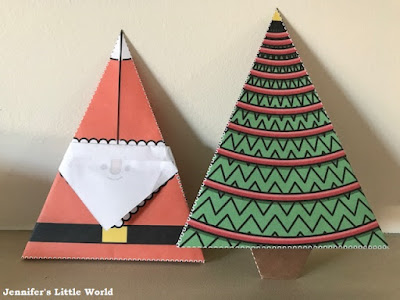 Christmas origami printables from Twinkl