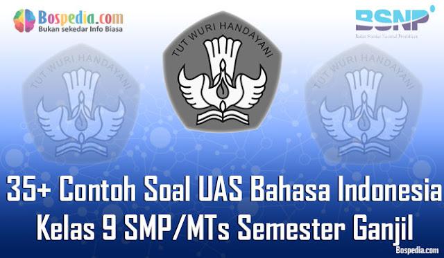 35+ Contoh Soal UAS Bahasa Indonesia Kelas 9 SMP/MTs Semester Ganjil Terbaru