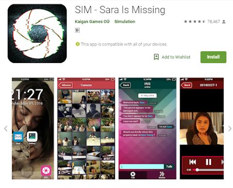 Review Game: Sara is Missing (SIM), Melacak Ponsel Orang Nggak Pernah Seseru Ini!