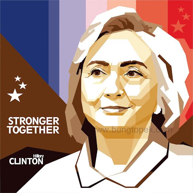 SKINTONE WPAP Hillary Clinton
