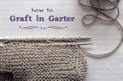 an excellent tutorial on grafting in garter stitch