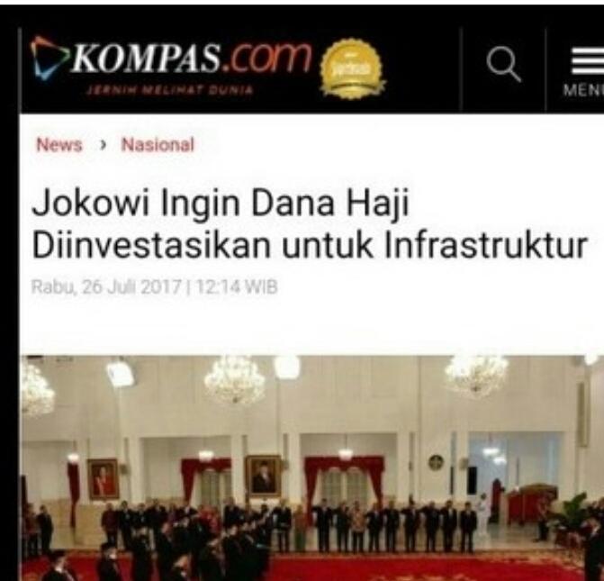 "Jokowi Akan Pakai Dana Haji Diinvestasikan Untuk Infrastruktur, Calon Jamaah Haji: ""Dunia Akhirat Kami Tidak Ridho"""