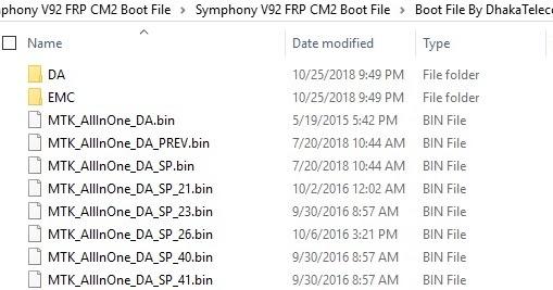 Symphony V92 cm2 Secure Boot File II Symphony V92 FRP Remove File