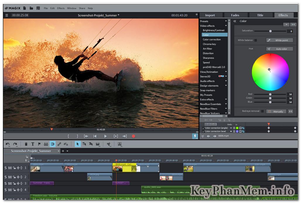 MAGIX Movie Edit Pro Premium 2018 Full Key mới nhất,Phần mềm biên tập và chỉnh sửa Phim + Video