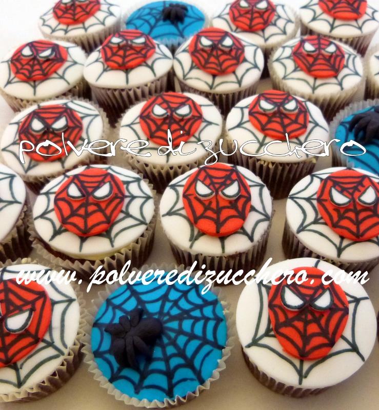 Cupcake uomo ragno polvere di zucchero cake design e for Decorazione torte spiderman