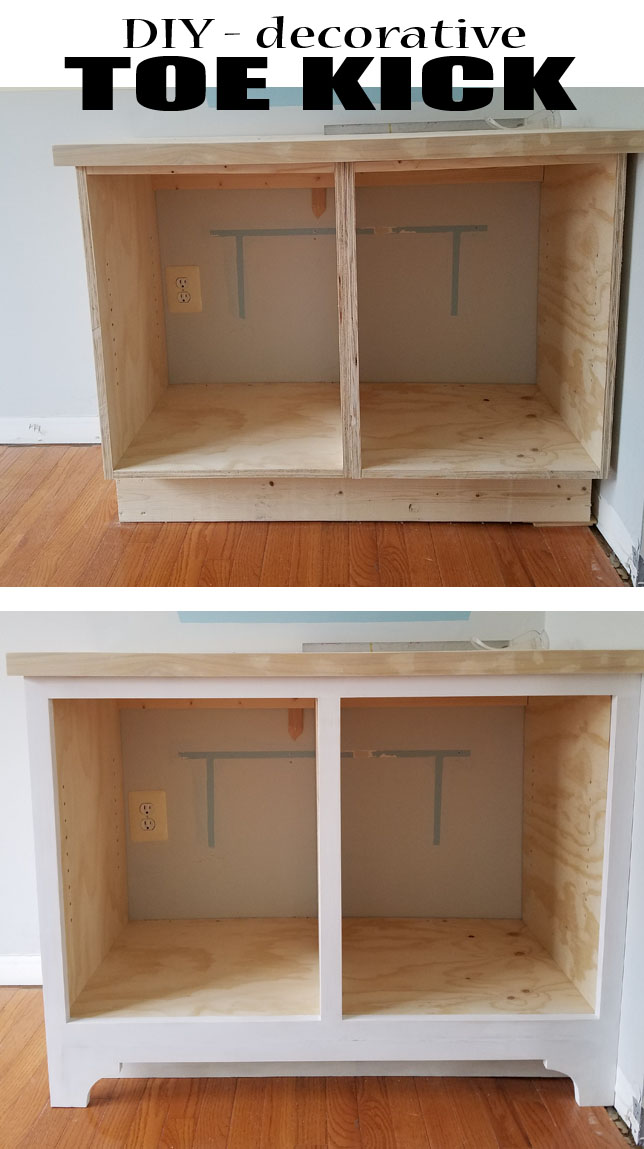 DIY toe kick - furniture and cabinets especial touches.