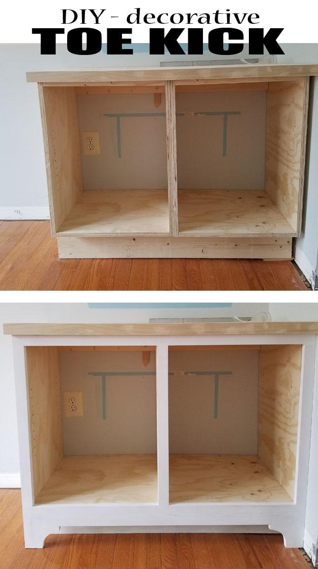 DIY - Decorative Toe Kick - Built-Ins Part 3 - Remodelando ...