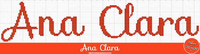 Nome Ana Clara em Ponto Cruz