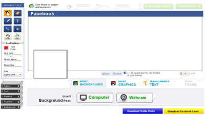 Edit Foto Cover Facebook online