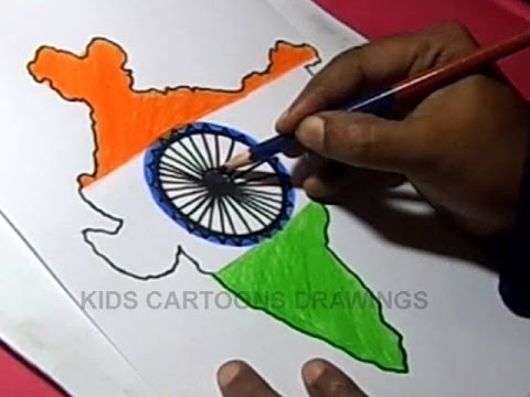 Independence Day Flag drawing