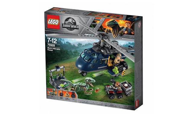 75928 – LEGO Jurassic World Blue's Helicopter Pursuit – $39.99 | 397 pieces | Ages 7+