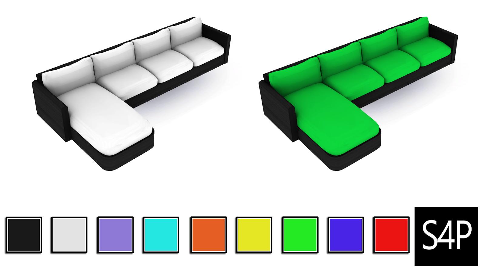 Download Sims 4 Pose Modern Sectional Sofa Mesh Seating