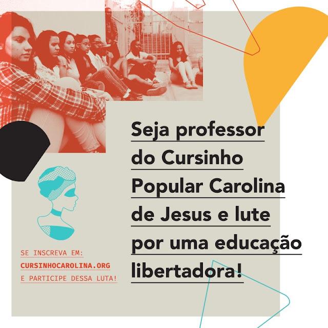 CURSINHO POPULAR PRECISA DE PROFESSORES!