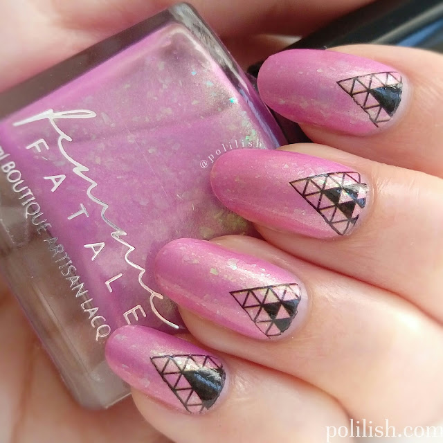 Geometric nail art with Nicole Diary water decals