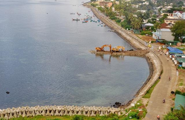 Vị trí xây dựng cảng du lịch tại Lý Sơn