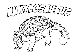 Ankylosaurus Dinosaur Coloring Pages With Name