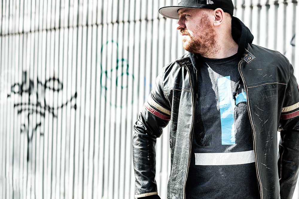 Energie 'Rod Knockers' Leather Biker Jacket by Tom Cunningham