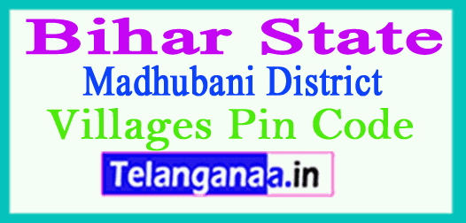 Madhubani District Pin Codes in Bihar State