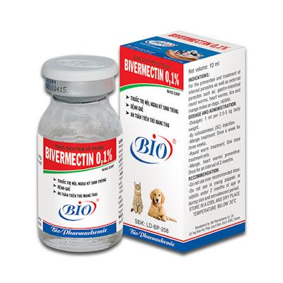 Thuốc tiêm trị ve chó BIVERMECTIN 0,1%
