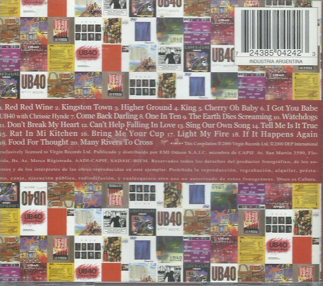 COSAS VARIAS: ub40 the very best of ub40 (1980 - 2000)