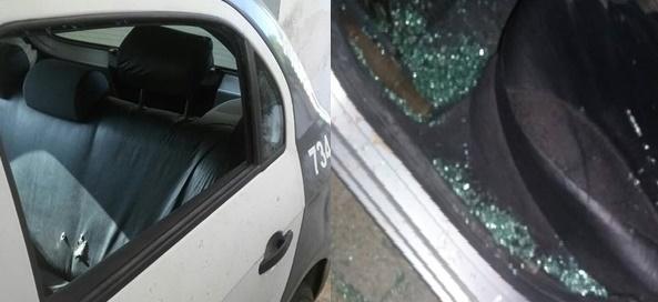 Autor de vandalismo na viatura policial em São Francisco do Oeste foi identificado pela PM