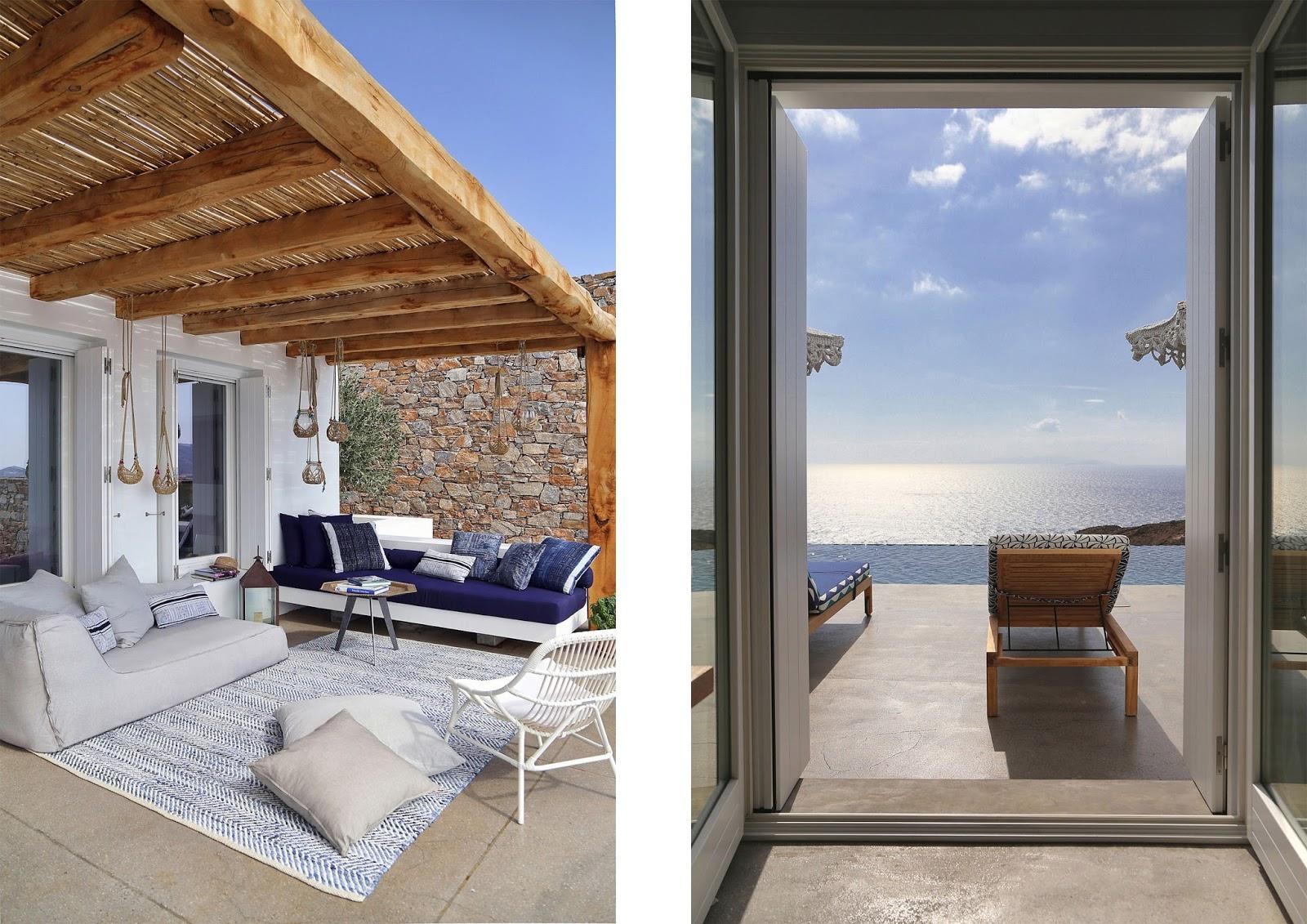 Casa estiva sull 39 isola di syros con piscina a sfioro vista - Case bellissime con piscina ...