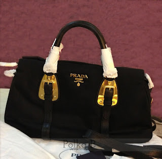 58f85ac1c206 Prada Tessuto Nylon + Soft Calf Leather Top Handle Bag BN1903 ...