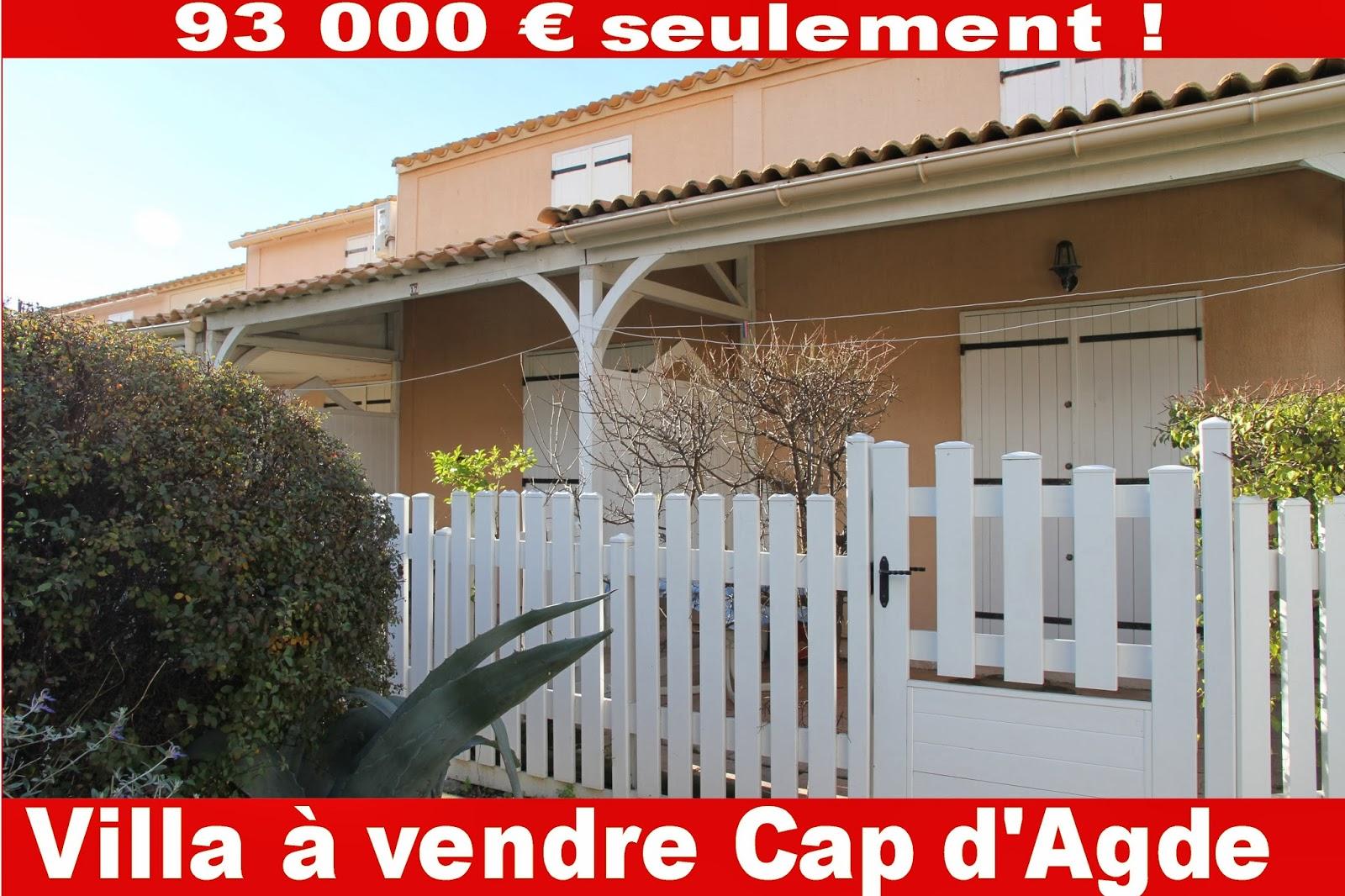 agence cap d 39 agde conseils en immobilier 34300 france languedoc a vendre cap d 39 agde villa plage. Black Bedroom Furniture Sets. Home Design Ideas