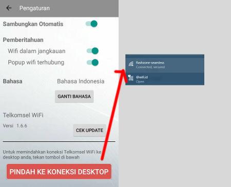 cara menggunakan wifi telkomsel di laptop