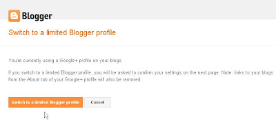 switch to limited Blogger profile