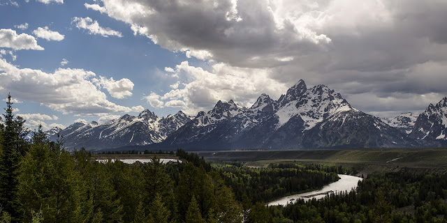the snake river overlook panoramic photography where ansel adams took his famous shot