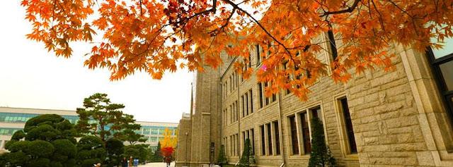 Trường đại học Dongguk Hàn Quốc mùa thu