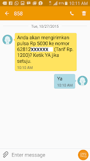 Cara Transfer Pulsa via SMS Telkomsel Simpati AS Halo