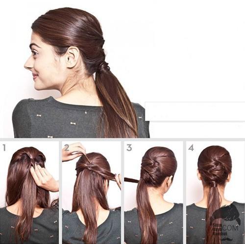 cara mengikat menata rambut gampang sederhana