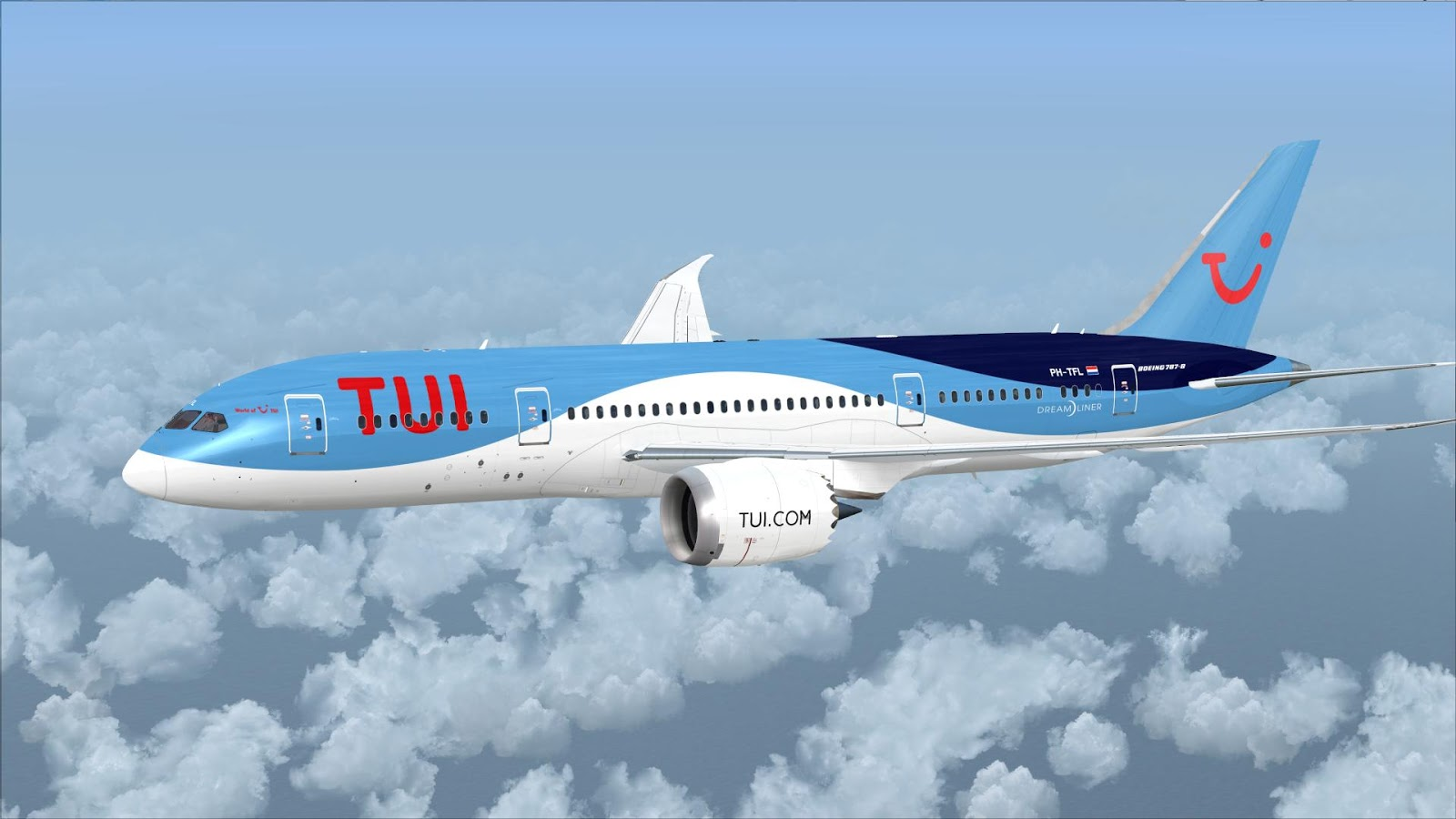 FSRepainter: TDS 787-8 TUI Airlines Netherlands PH-TFL