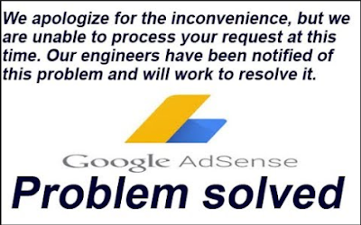 error adsense We apologize for the inconvenience