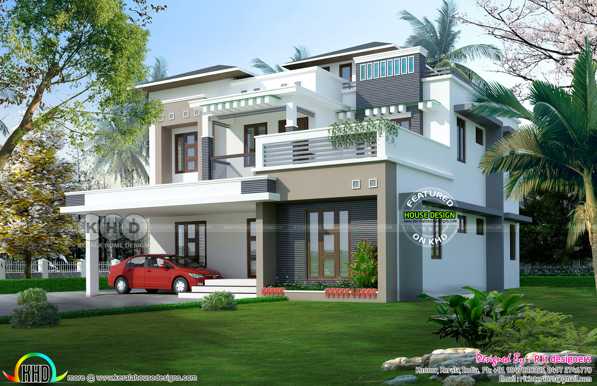 5 bedroom modern house 5 bedroom contemporary home in 9 cent land kerala home 13976