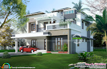 5 Bedroom Contemporary Home In 9 Cent Land - Kerala