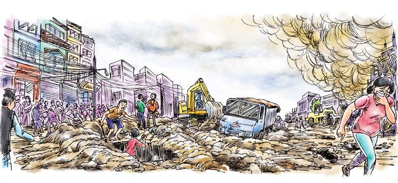 Mobile pollution monitoring in kathmandu
