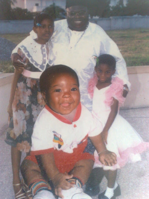 Jewel Ackah and his Kids [ Jewelina Ackah and Cecilyiah Nhanha Ama Ackah] (in year 2010)