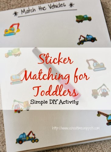 simple sticker matching for toddlers