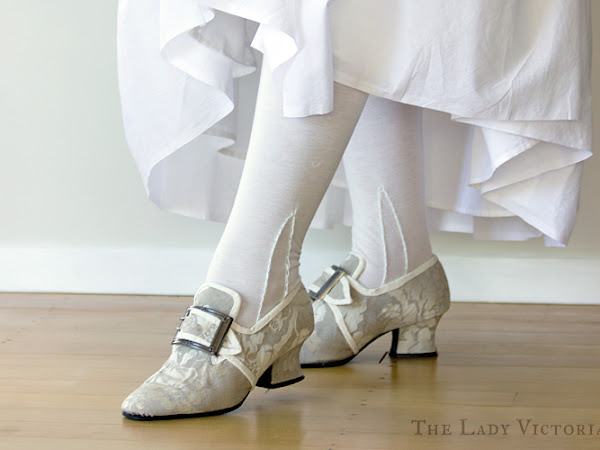 White 18th Century Stockings