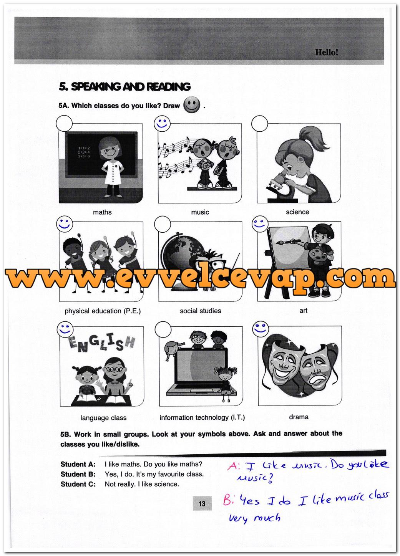 5. Sınıf Özgün Yayınları İngilizce 13. Sayfa Cevapları