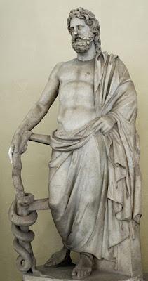 Esculape, ông tổ ngành Y dược Hy lạp cổ đại