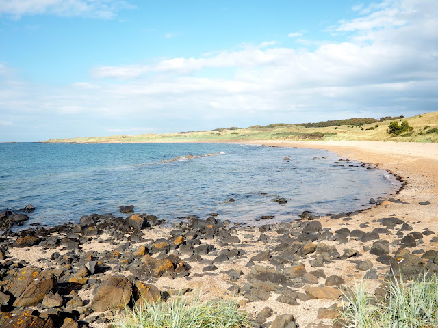 Beach coast line around East Lothian, Scotland