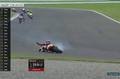 Baru Tiga Lap, Marquez Jatuh di MotoGP Argentina