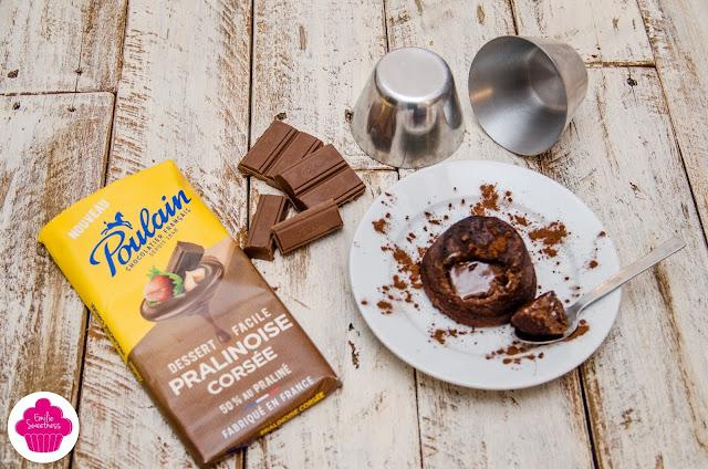 Cœur coulant au chocolat pralinoise ultra fondant!