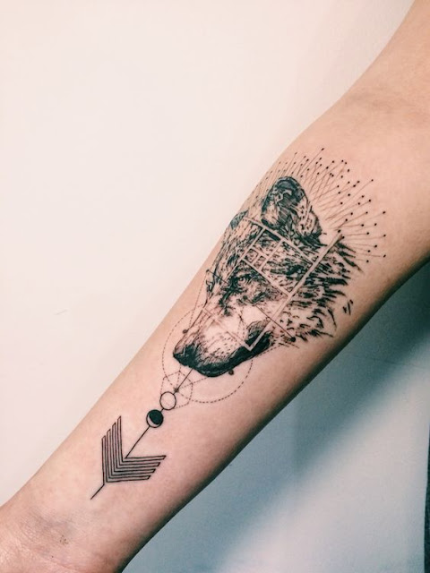 Forearm Wolf Tattoos For Girls