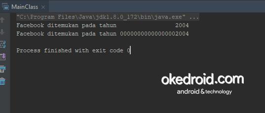 output hasil Contoh Code menggabungkan menggunakan nilai tipe data integer menentukan jumlah angka bilangan method format() di program java
